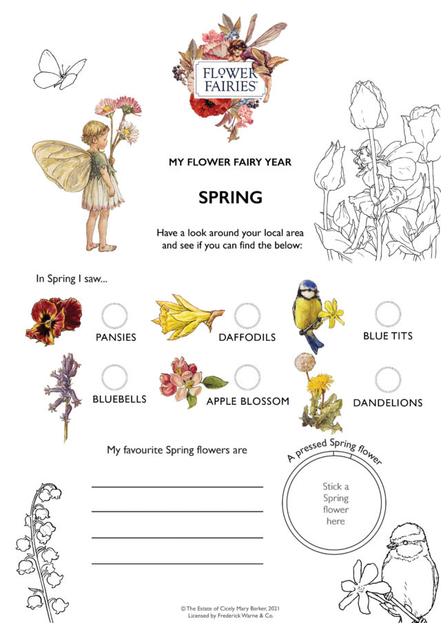 Spring Flowers Activity Sheet